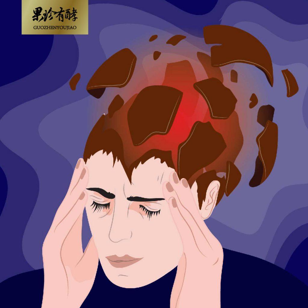 偏頭痛示意圖